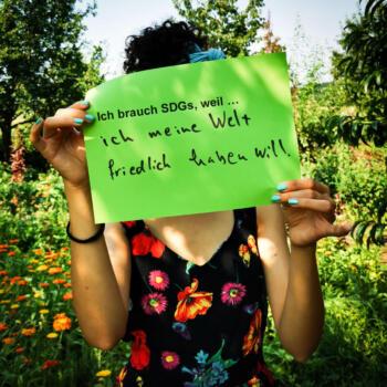 ...ich meine Welt friedlich haben will.